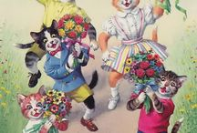 Alfred Mainzer - Dressed Cats