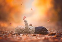 baby photography autumn