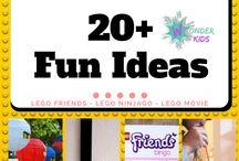 Lego Fun / Lego birthday ideas, Lego Friends, Lego movie and lego friends ideas for boys and girls, Lego games and party ideas