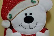 Oso de navidad blanco