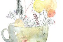 Projet Songe de thé / Inspiration et recherche pour LOGO et Branding d'une marque. Création fictif d'une société de vente online de thé