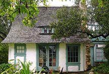 Garden. Sweet cottage