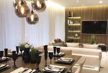 decoração sala+sala jantar