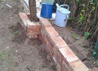 Old bricks in garden