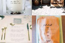 wedding menu's