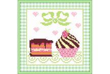 borduren cupcakes