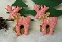 Stuffed xmas ornaments