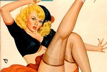 Vintage Pin Up Girls / Great Vintage/Retro Pin Up Art and images from the -40s, -50s and -60s