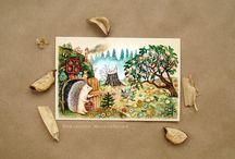 Елизавета Мелкозерова / Елизавета Мелкозёрова - художник, автор почтовых открыток, а в прошлом дизайнер и преподаватель рисования.