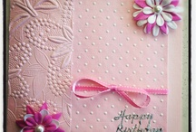 Pink greeting cards