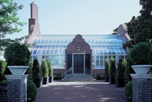 Conservatories & Orangeries / Orangeries became popular in the 17th century for growing exotic plants and fruits that were native to warmer climes. Whereas conservatories have walls entirely of glass, an orangery will have side elevations partly constructed from hardwood or stone.