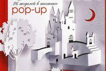 Kirigami or pop-up card, books