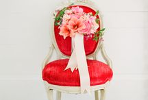 red pink and peach Wedding