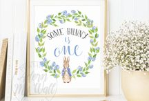First birthday party theme - Peter Rabbit