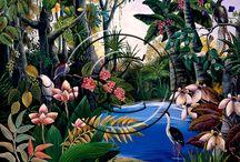 0902 Johanna Hildebrandt / In 1970 Johanna migrated to Australia, and after raising a family and assisting her husband in building his business, she started painting in 1980. Her first paintings were of her childhood memories, with nature and the four seasons represented in each picture. Initially she began painting on glass panels, a more traditional way of painting in many parts of southern Europe. Johanna draws her inspiration from nature, memories, surroundings, bushwalking and snorkeling.