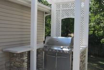 Outdoor kitchen / by Heidi Childers