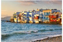 """Mykonos / Mykonos' nickname is """"Island of the Winds"""". It's part of the Cyclades, lying between Tinos, Syros, Paros and Naxos. Mykonos is considered to be one of the most famous and cosmopolitan islands of the world due to it's exciting nightlife, sandy beaches and it's picturesque town (Chora)"""