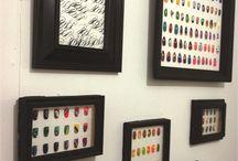 Nail art display ideas