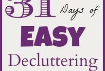 31 Days of Easy Decluttering / I'll be pinning YOUR before and after pictures here as you go through this series!  Make sure you use the hashtag #31DaysEasyDecluttering so I can find your pictures!  I'll share my posts here too so you can find them back easily.