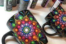 Vasos y frascos decorados