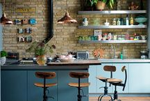 kitchen / Country cottage meets retro, industrial, minimal and maximal...