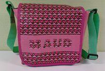 Annette's Design tassen met naam geplastificeerd katoen