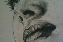 kresba obličej