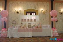 Comuniones / Os enseñamos nuestros diseños de Candybuffet y decoración para Comuniones.