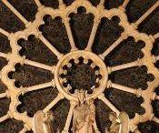 Rosáceas Catedrais Góticas inspiração Mandalas