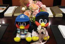 (野球チーム)つば九郎とつばみがテーマのウェディング / 東京ヤクルトスワローズのマスコットキャラクター、つば九郎とつばみがテーマの結婚式イメージを集めました。
