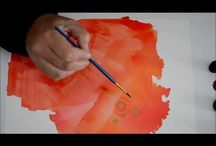 Alcohol ink techniques