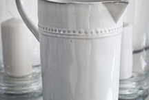 white ceramic jugs