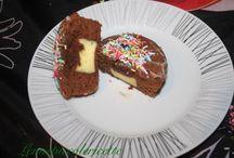 Ricetta del giorno / http://www.lemiepiccolericette.it/products/muffin-al-cioccolato-con-cuore-di-crema/