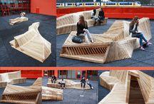 mobilier urbain bois
