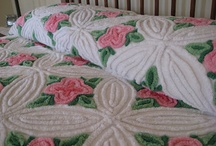 Chenille and Vintage / vintage chenille bedspreads and table clothes