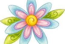 Flores fáciles para dibujar en piedra