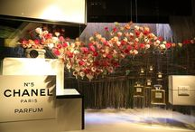 Chanel window - 2014 David Jones Flower Show / Chanel window - 2014 David Jones Flower Show Props, including Chanel perfume packaging fabricated by Stage ONE Australia, as well as complete install of window design featuring a sea of roses required to appear suspended.