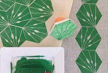 Fabric Design: Block Printing / Inspiration for handmade fabric