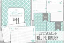 Printable Recipe Binders