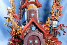 Miniatures (Fairy houses, Fairy doors, Wizard accessories) / Also Gingerbread and Birdhouses that I would convert to Fairy Houses!! / by Diana Cantrell-Brown