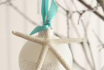 Christmas | 2018 Beach / Beachy-themed holiday décor on white tree