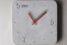 zegarek beton drewno