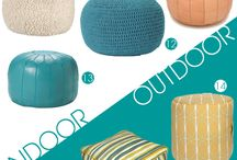 Poufs and drum tables