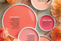 Home Decor | Coral / Ideas for home decor with shades of coral