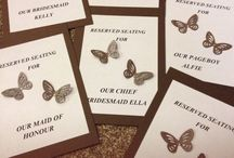 Our wedding / Our beautiful January wedding decor. Shades of brown, butterflies,birdcages and more!