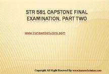 STR 581 Final Exam