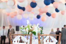 Mariage rose et bleu