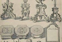 декоративное искусство / декоративные архитектурные элементы, образцы украшений потолка и стен, элементов украшения интерьера, образцы всевозможных орнаментов.