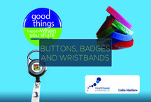 Promotional Buttons/Badges/Wristbands / Not just a memento of a special event, a custom promotional botton, badge, or wristband is also simple call-out to your brand or business. Incorporate these into your next promotional campaign, and you have a cost-effective avenue to reach customers far and wide.