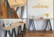 Plank and Trestle - Custom collection / Trestle tables designed and made by Plank and Trestle - www.plankandtrestle.com.au - www.facebook.com/plankandtrestle